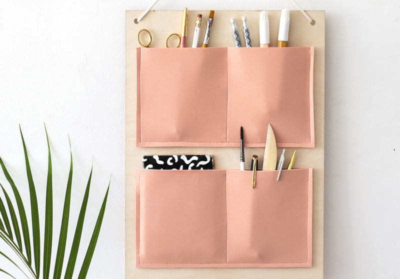 organiseur mural bois et cuir - The lovely drawer