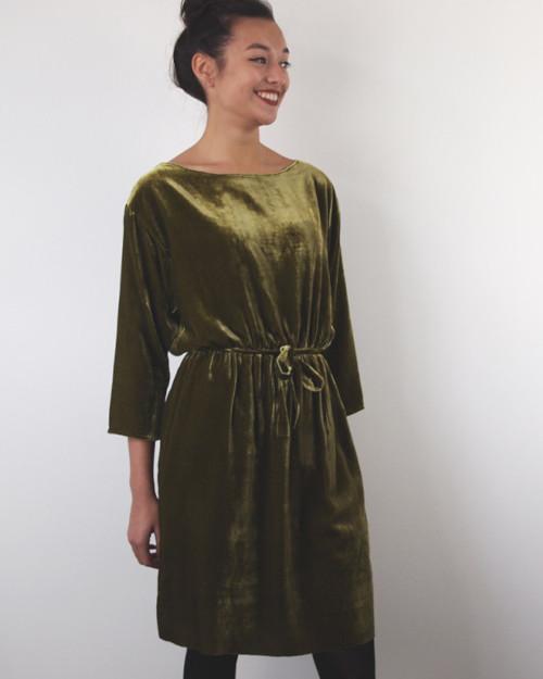 Robe Debbie en panne de velours - Republique du Chiffon