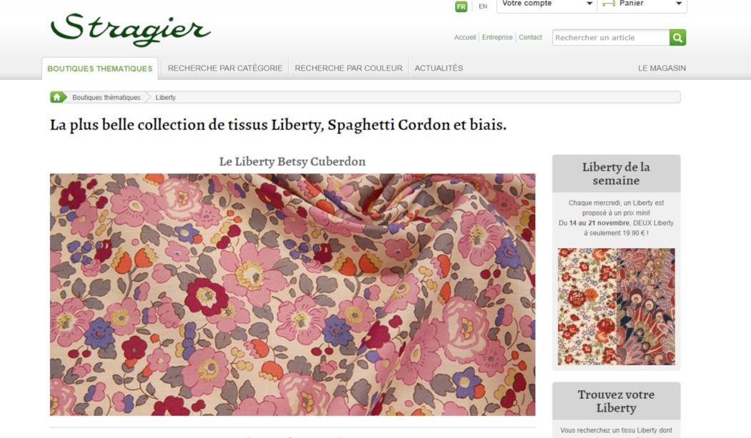 Stragier mercerie en ligne - boutique Liberty