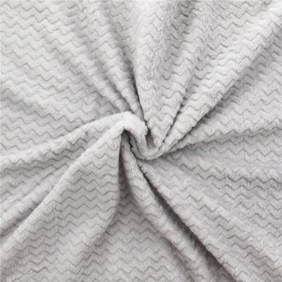 tissu minky motif wave gris