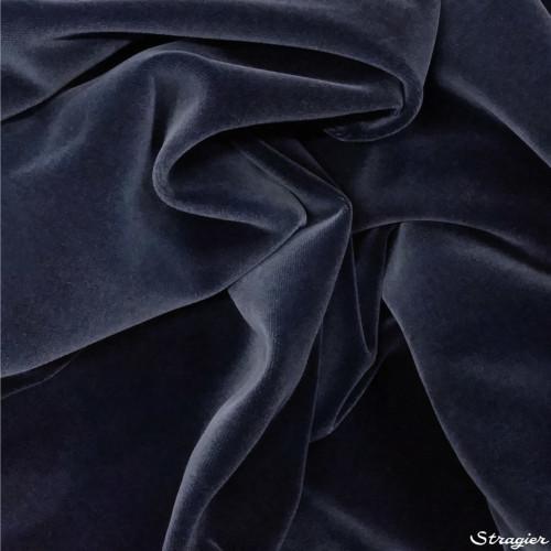 velours lisse 100% coton bleu océan