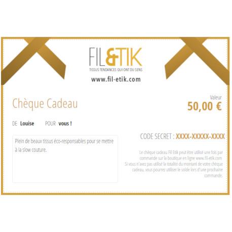 cheque cadeau tissu bio Fil Etik