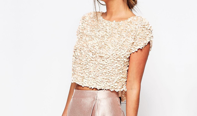 crop top asos doré