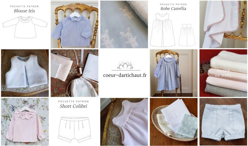 Kits couture bébé Coeur d'Artichaut - Collection capsule de Noël - Louise Magazine