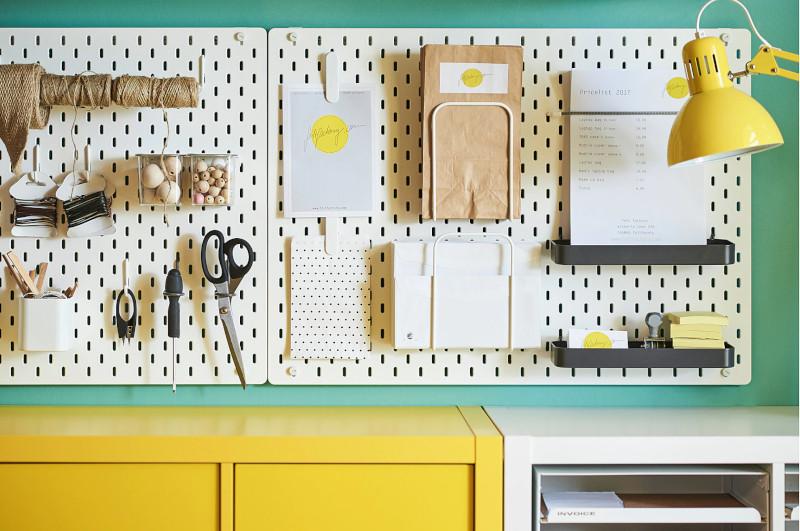 organissteur mural IKEA Skadis - panneau perforé