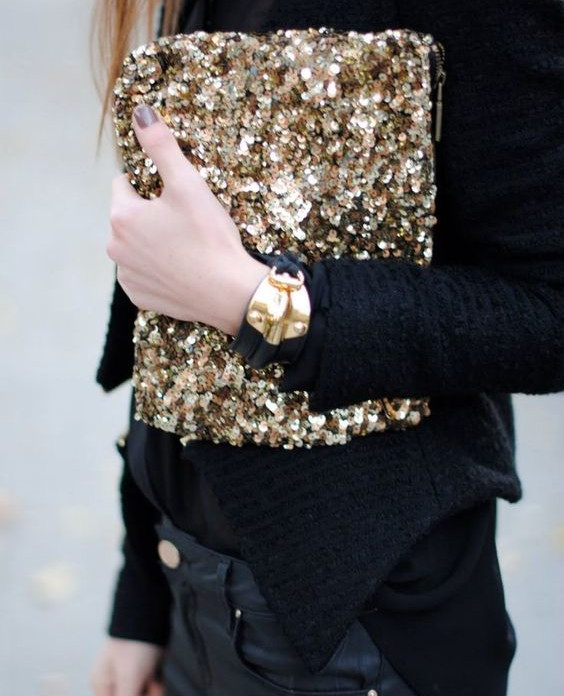 pochette sequins - matchbookmag.tumblr