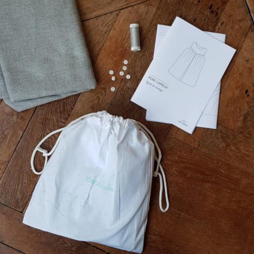 Kit couture bébé robe Camélia