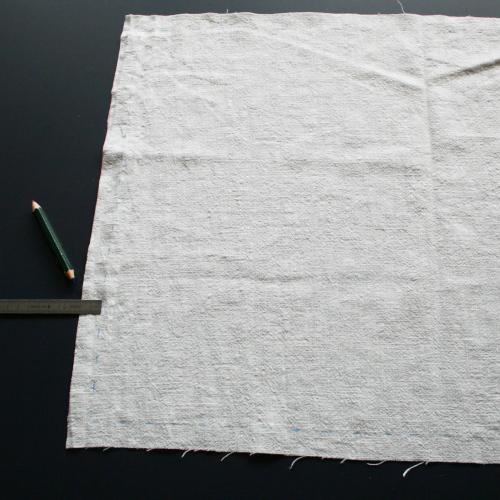 tuto serviette de table - couper un carré de tissu
