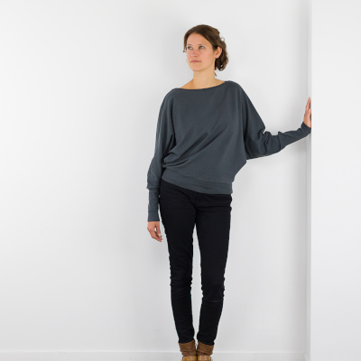Sweater Lodi en molleton bleu nuit - See You at Six