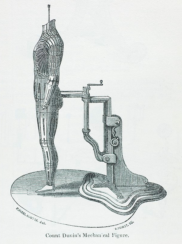 Invention du Comte Dunin : mannequin mécanique