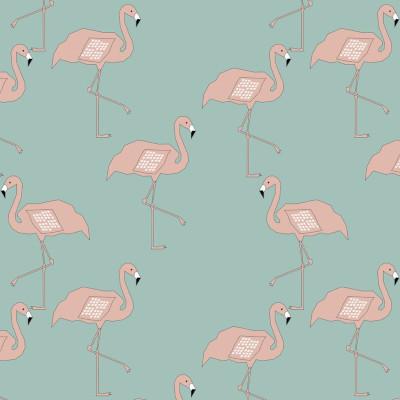 jersey bio GOTS flamingo dusty mint - Elvelyckan design