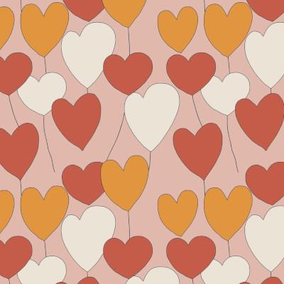 Happy heart dusty pink - Jersey Elvelyckan design