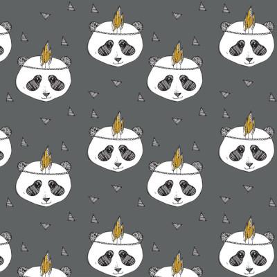 jersey bio panda dark grey - Elvelyckan design