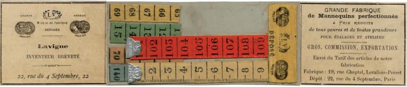 Brevet pour l'invention du mètre ruban par Alexis Lavigne