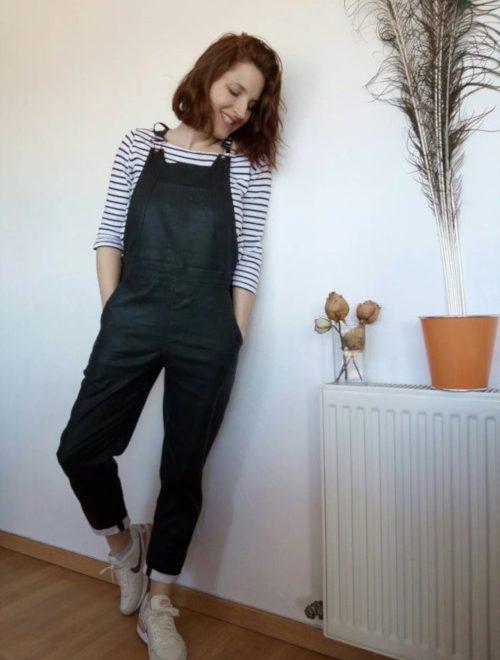 Danielle en jean noir pour Agathe du blog Pas de pacotille