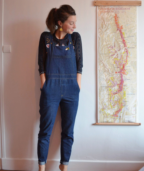 Salopette Danielle en denim cousue par @lolotellep