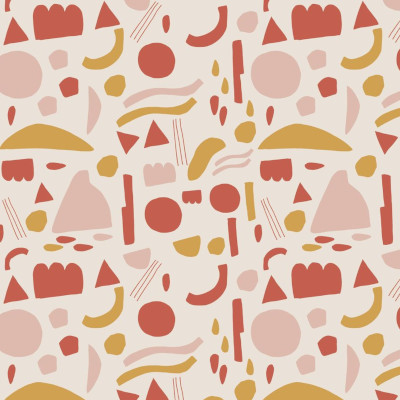 Jersey bio shapes couleur crème - Elvelyckan Design