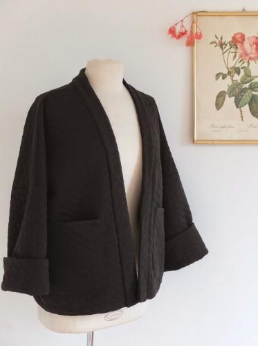 veste kimono trop facile - patron delphine et morissette