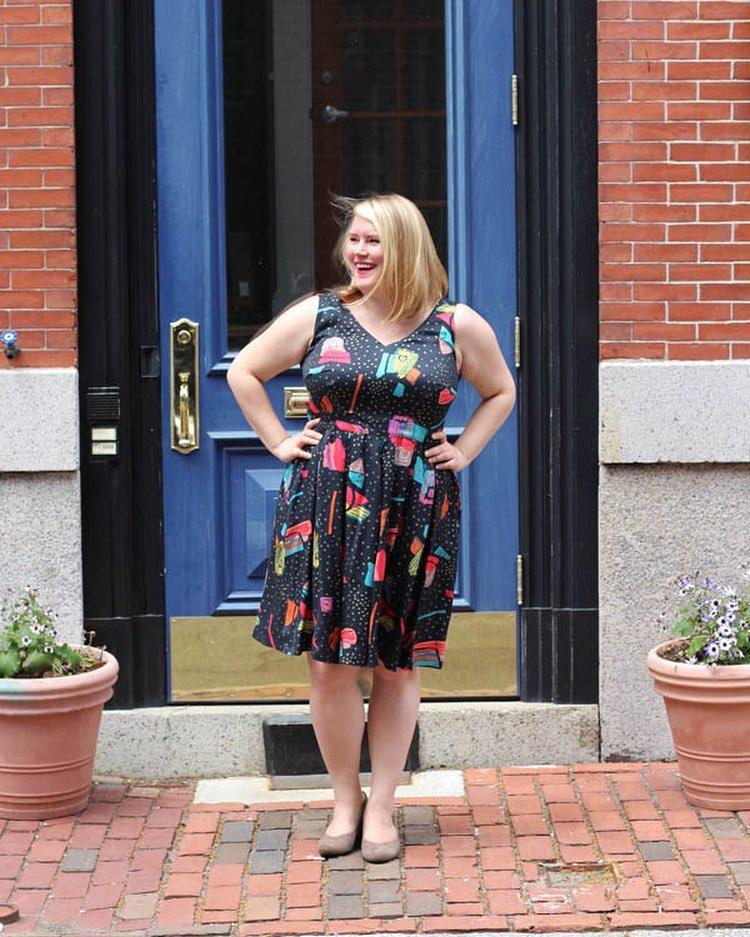 patron robe grande taille - Uptown dress - Cashmerette