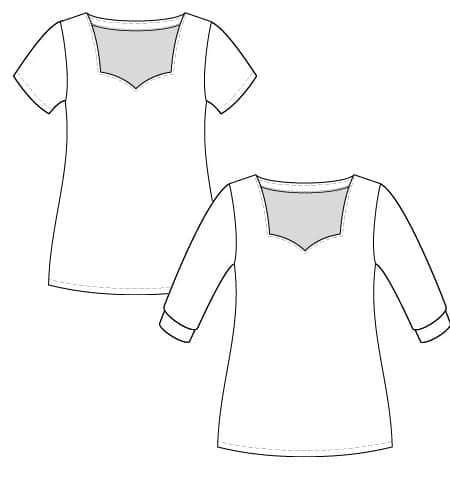 dessin du t-shirt badiane - patron gratuit Christelle Beneytout