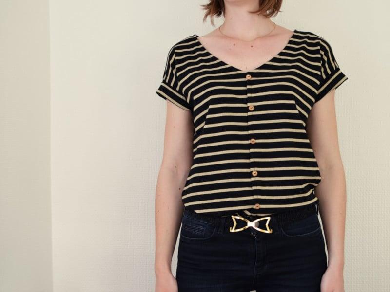 Hemlock Tee façon Des Petits Hauts par Cozy Little World - patron t-shirt gratuit Grainline Studio