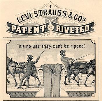 étiquette cuir jeans Levi's