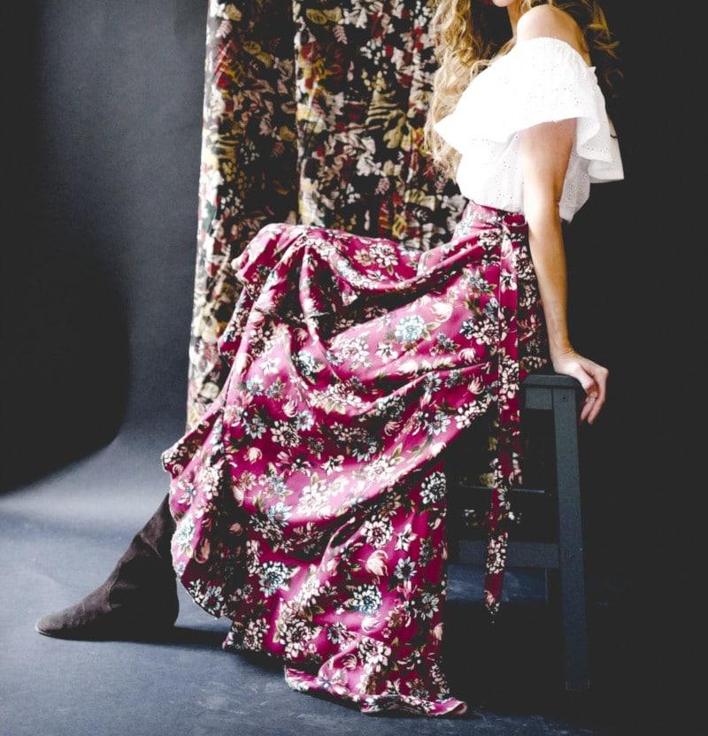 patron de jupe longue La Bohème - Vanessa Pouzet - sergé de viscose