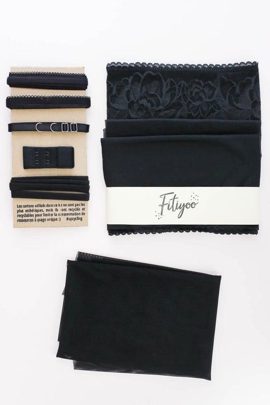 Kit lingerie dentelle noire - Fitiyoo