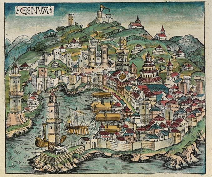 Port de Gênes en 1498