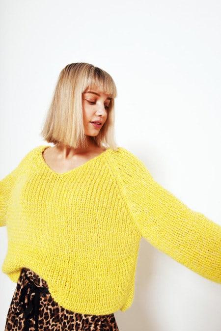 patron tricot pull Yvonne de Fibre Mood
