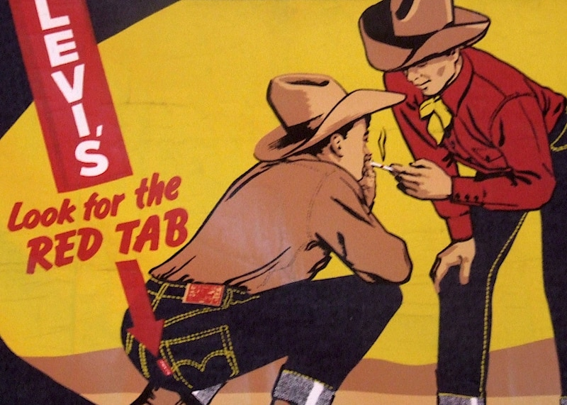 publicité Levis's - étiquette rouge