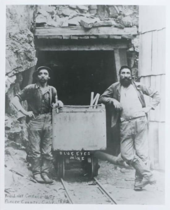 mineurs en jeans pendant la ruée vers l'or - 1886