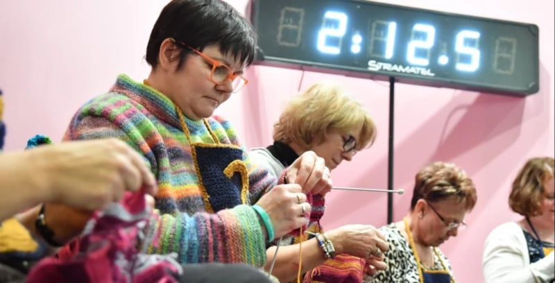 Concours tricot speed knitting