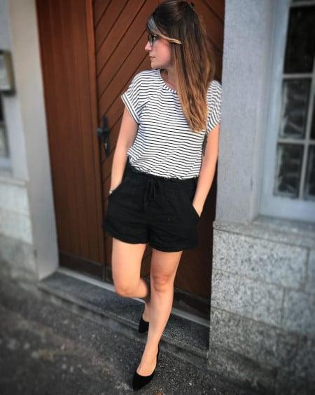 T-shirt Odette à rayures @creasun_couture - patron gratuit La Maison Victor