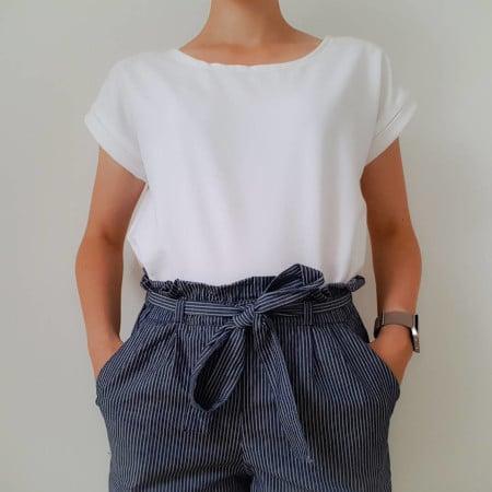 T-shirt Odette blanc @do_it_gwendo - patron gratuit La Maison Victor