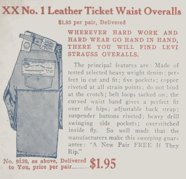 XX overalls Levi's