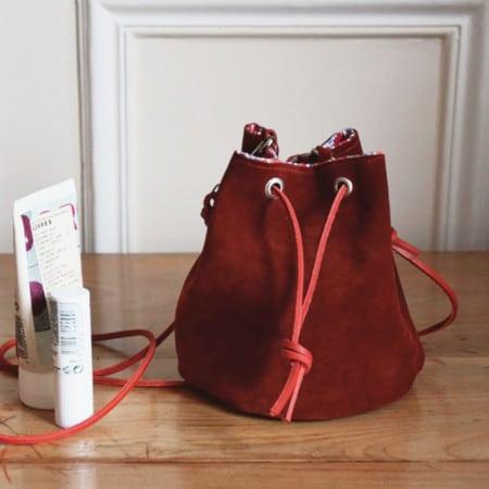 DIY sac seau en cuir - Modes et Travaux