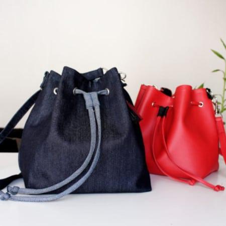 DIY sac seau en denim - Elle Bulle