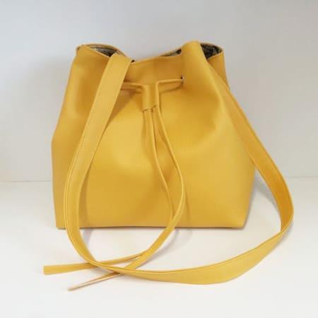 DIY sac seau en simili cuir - Madalena couture