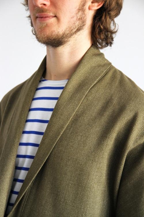 patron veste pour homme Artemis - détail col - I AM Patterns