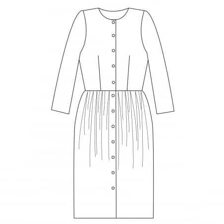 Dessin technique robe Joecelyne - République du Chiffon - pince taille