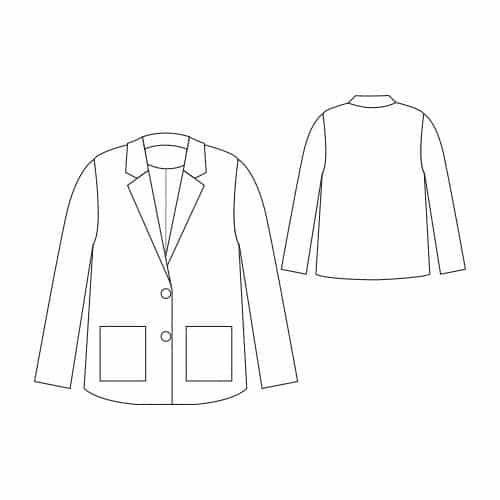 Dessin technique veste Barbara - République du Chiffon