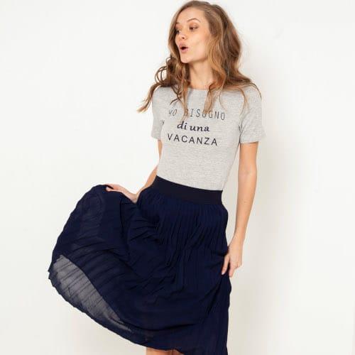 Body t-shirt gris chiné - Camaieu
