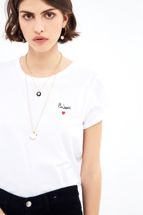 t-shirt bisou Balzac Paris - 100% coton