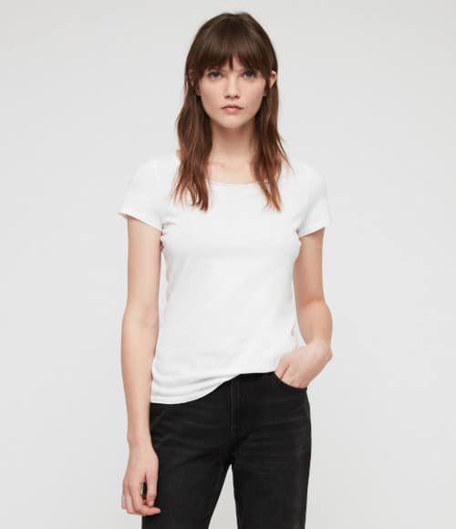 tee-shirt blanc en jersey léger All Saints