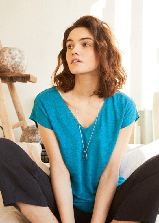 t-shirt en jersey lin - Comptoir des cotonniers