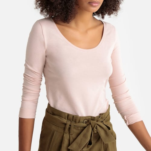 t-shirt stretch rose pale - La Redoute