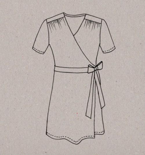 Patron robe portefeuille Aime comme Mots Doux