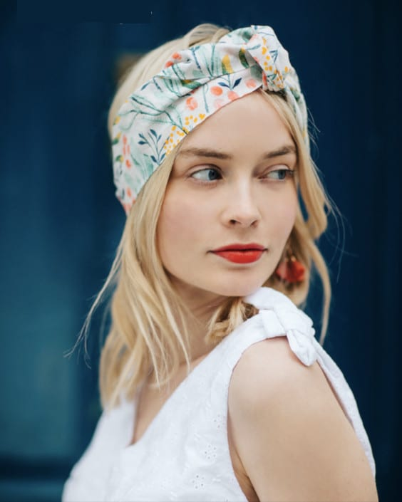 Atelier couture headband Rosalie - Seize Paris x Mondial Tissus