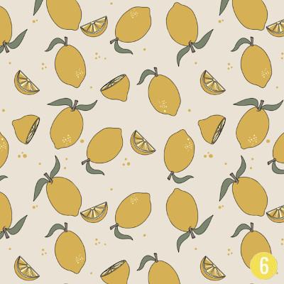 Jersey citrons coton bio Elvelyckan Design